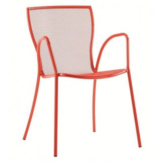 Italian Metal Cafe Emu Restaurant ArmChair stacking