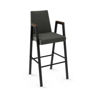 modern transitional industrial metal Commercial Restaurant Communal Bar height stool indoor