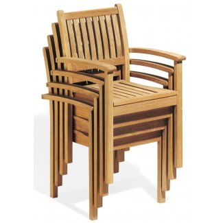 Teak Side and Arm Chairs