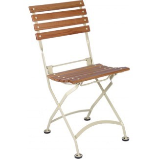 Teak Folding Chairs and Tables - European Cafe