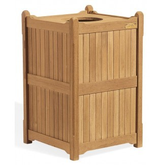 Teak Stools, Planters, Trash Cans & Accessories