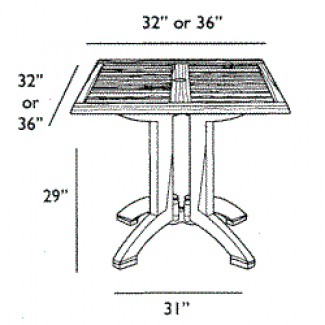 "Winston 36"" Square Dining Table 4"