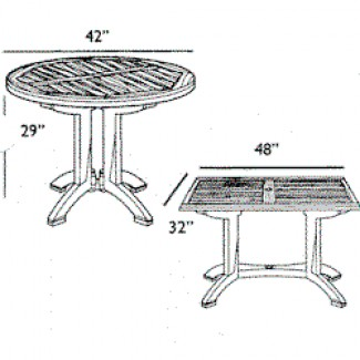 "Winston 42"" Round Dining Table 4"