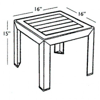 "Bahia 16"" Square Low Table 4"