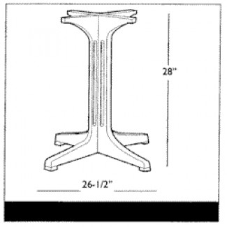 Grosfillex 4-Prong Pedestal Table Base 1000 4