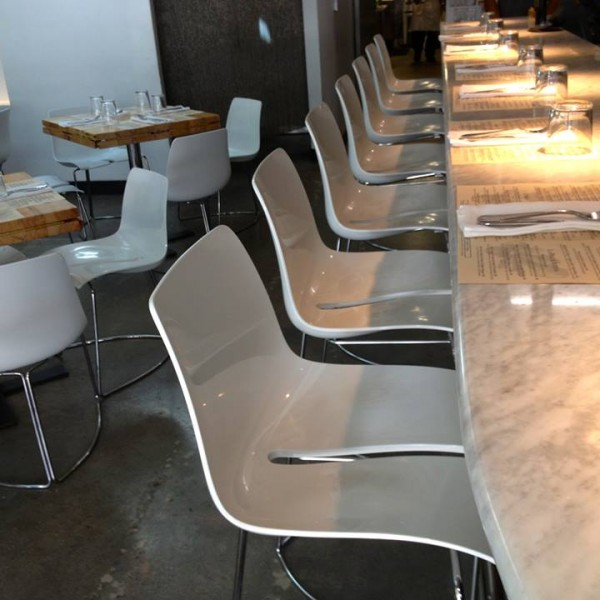 Resin Restaurant Bar Stools and Side Chairs