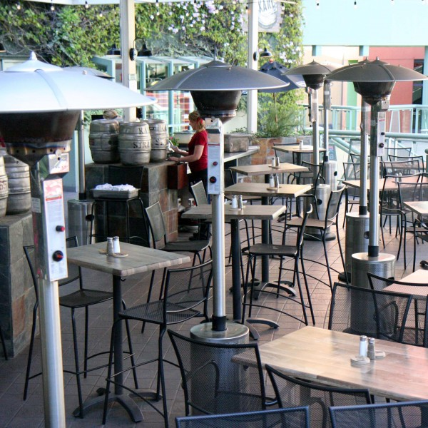 Outdoor restaurant propane heaters