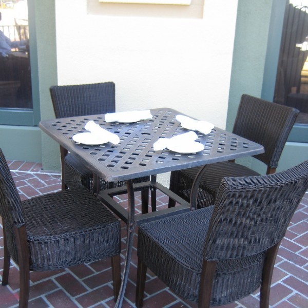 Restaurant aluminum rattan patio furniture