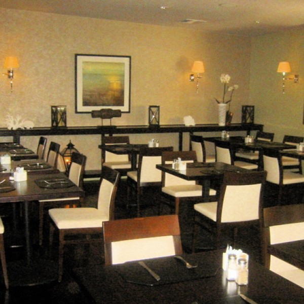 Restaurant beechwood upholstered side chairs