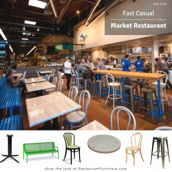 Fast Casual Custom Seating and Tables