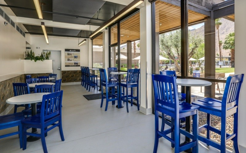 Sapphire stained Bulldog chairs and barstools