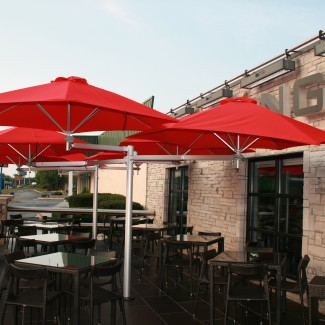 Outdoor restaurant multiflex umbrella collection