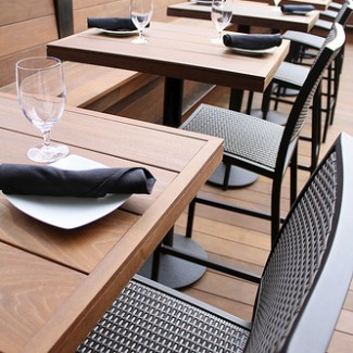 Aluminum restaurant furniture collection