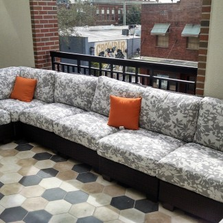Outdoor Wicker Lounge Furniture with Custom Cushions