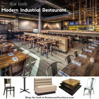 Modern Industrial Restaurant Furniture