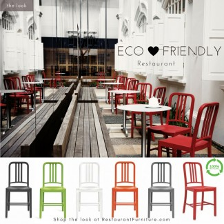 Upcycled and Recycled Chairs for Restaurant Use