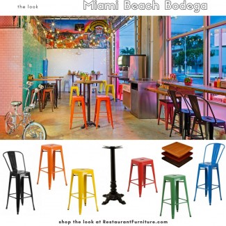 Colorful Metal Restaurant Furniture at RestaurantFurniture.com